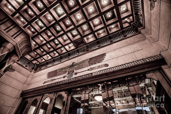 Choral Wall Art - Photograph - Ogden's Historic Peery's Egyptian Theater At Night  by Gary Whitton