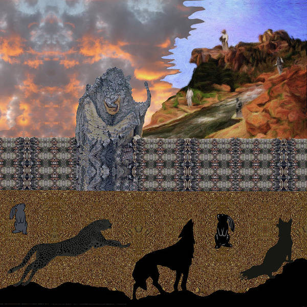 Digital Art - Ogre Builds His Wall Who Wins Who Loses by Julia L Wright