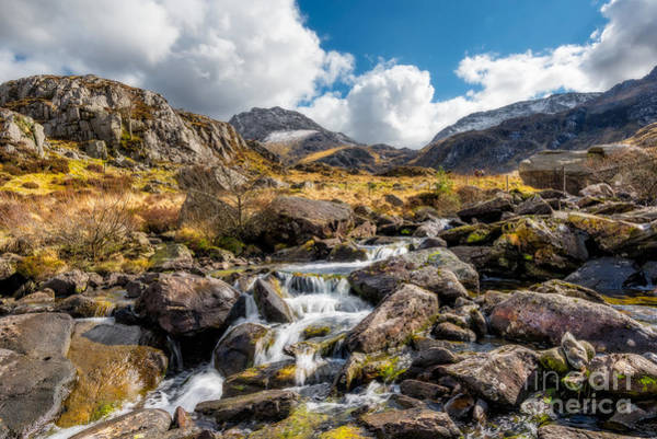 Spring Mountains Digital Art - Ogwen Valley Rapids by Adrian Evans