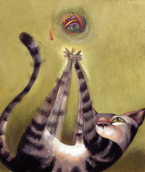Whimsy Wall Art - Painting - Oh Boy by Barbara Hranilovich