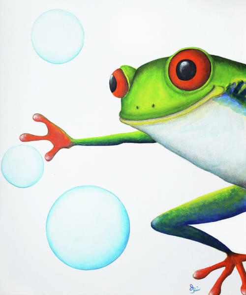Painting - Oh Bubbles by Oiyee At Oystudio
