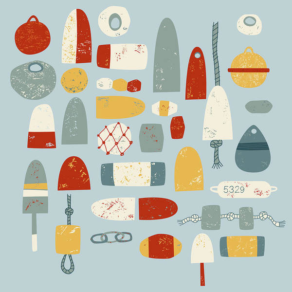Boats Wall Art - Painting - Oh Buoy by Nic Squirrell