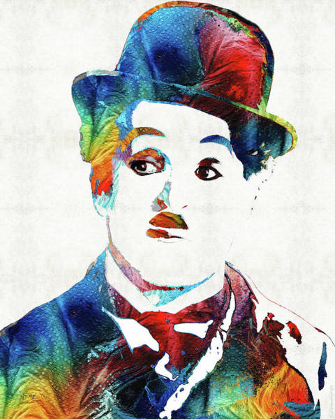 Painting - Oh Charlie - Charlie Chaplin Tribute by Sharon Cummings