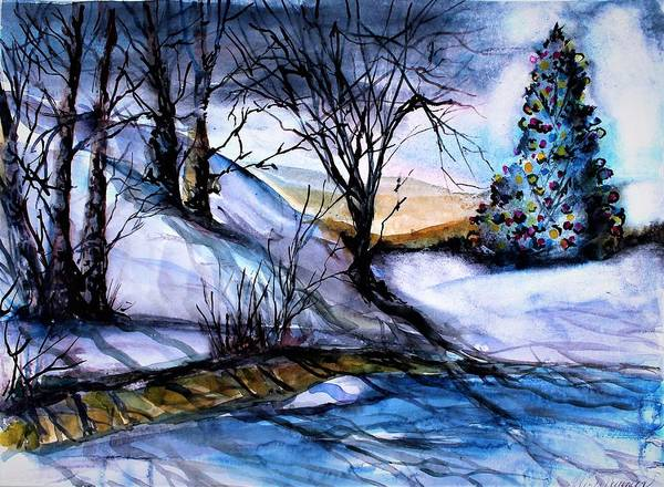 Wall Art - Painting - Oh Christmas Tree by Mindy Newman