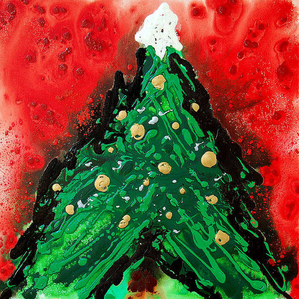 Painting - Oh Christmas Tree by Sharon Cummings