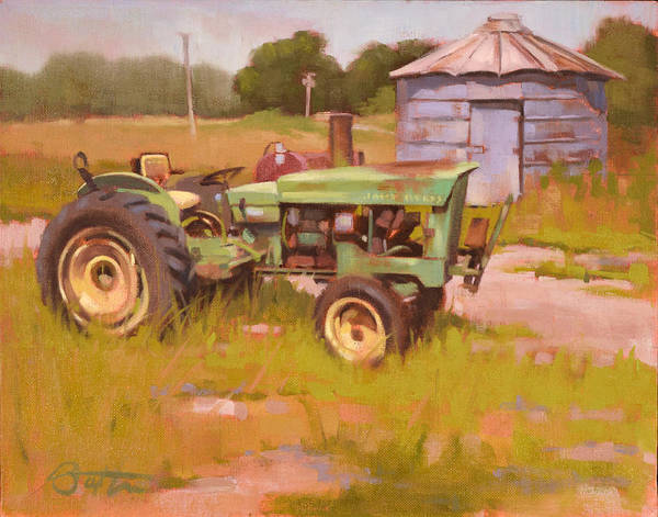 Charlotte Nc Wall Art - Painting - Oh Deere by Todd Baxter