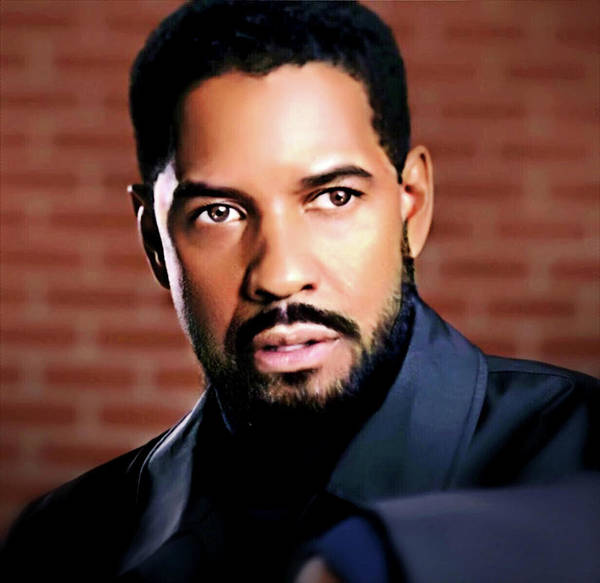 Digital Art - Oh, Lawd Denzel by Karen Showell