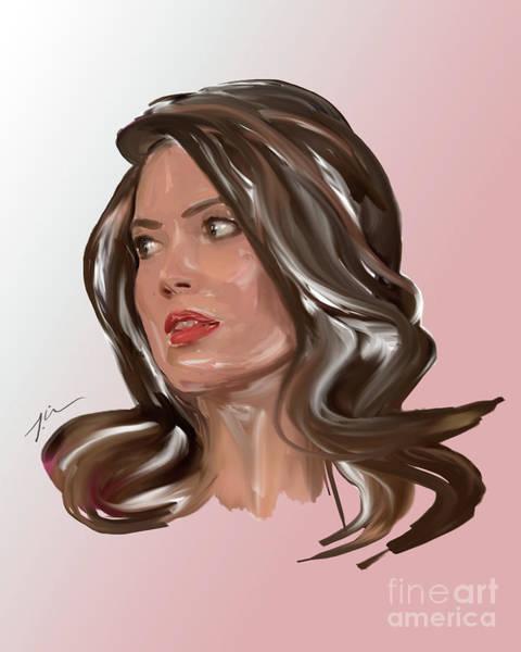 Ir Painting - Oh Mandy - Beautiful Woman Portrait Minimalist Drawing by Iri Kirova