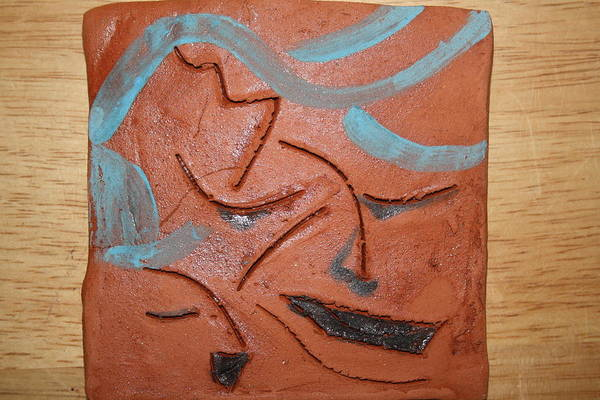 Ceramic Art - Oh Mum - Tile by Gloria Ssali