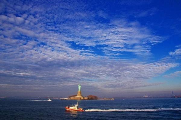 Photograph - Oh So Blue Over Lady Liberty by Alice Gipson