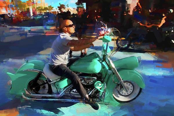 Wall Art - Photograph - Oh So Turq Biker by Alice Gipson