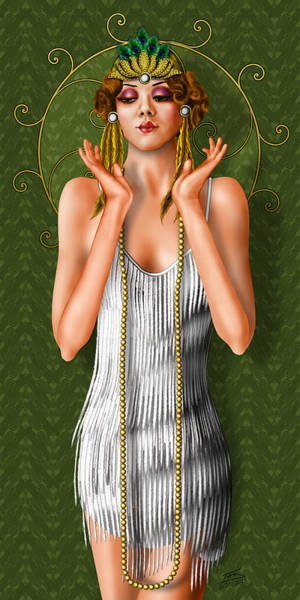 Flappers Drawing - Oh Those Fabulous Flappers by Troy Brown
