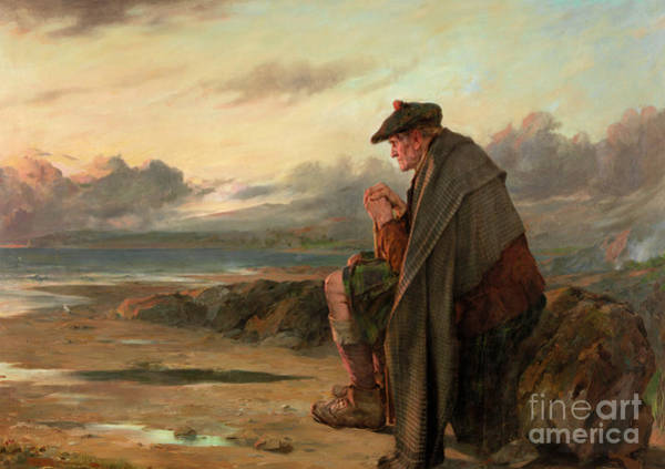 Wall Art - Painting - Oh, Why I Left My Hame by Thomas Faed