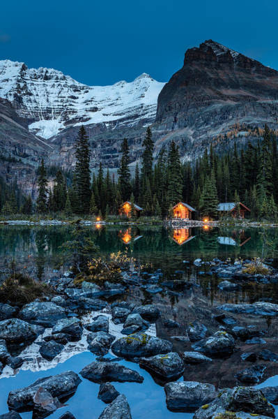 Photograph - O'hara Lake Lodge Twilight by Pierre Leclerc Photography