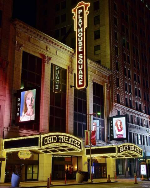 Playhouse Photograph - Ohio And State Theater by Frozen in Time Fine Art Photography