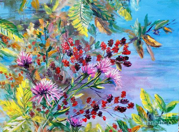 Wall Art - Painting - Ohio Berries by Lou Ann Bagnall
