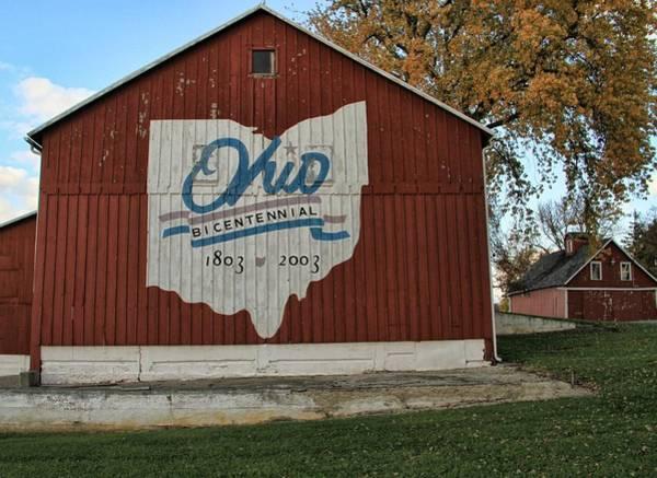 Photograph - Ohio Bicentennial Barn In Fall by Dan Sproul