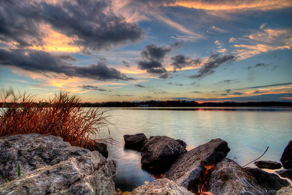 Photograph - Ohio Fall Sunset by David Dufresne