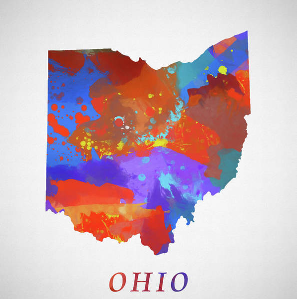Wall Art - Painting - Ohio Map by Dan Sproul