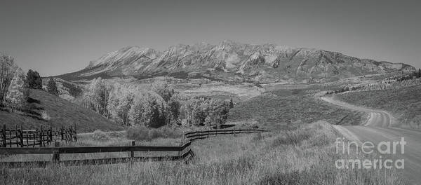 Photograph - Ohio Pass Road And Anthracite Range Bw by Michael Ver Sprill