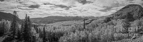 Photograph - Ohio Pass Road Overlook Bw by Michael Ver Sprill
