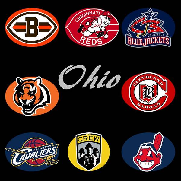 Wall Art - Digital Art - Ohio Professional Sport Teams Collage by Movie Poster Prints