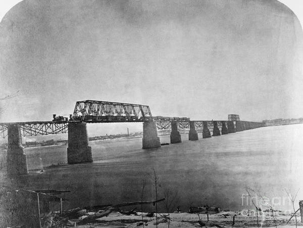 Photograph - Ohio River Bridge, 1870 by Granger