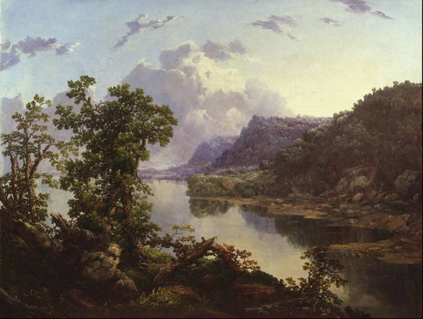 Wall Art - Painting - Ohio River Near Maysville, Ky  by William Louis Sonntag Sr