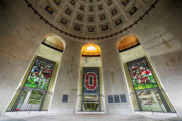 Ohio State University Photograph - Ohio Stadium Rotunda by Stephen Stookey