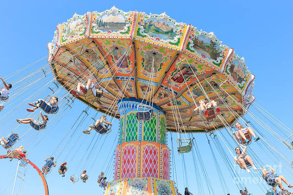 Photograph - Ohio State Fair Wave Swinger I by Clarence Holmes