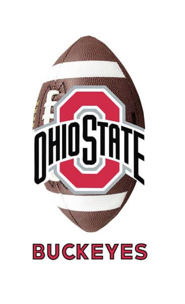 Osu Digital Art - Ohio State Football by Daniel Hagerman