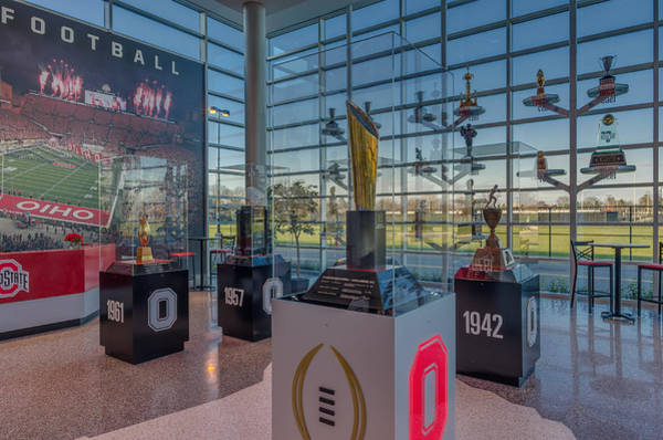 Ohio State University Photograph - Ohio State Football National Championship Trophy by Scott McGuire