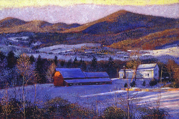 Painting -  Ohio Winter Blue by David Lloyd Glover