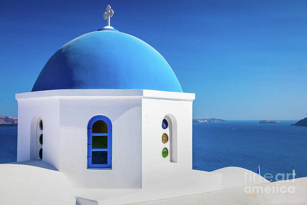 Photograph - Oia Chapel by Inge Johnsson