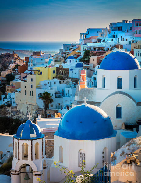 Aegean Sea Photograph - Oia Town by Inge Johnsson