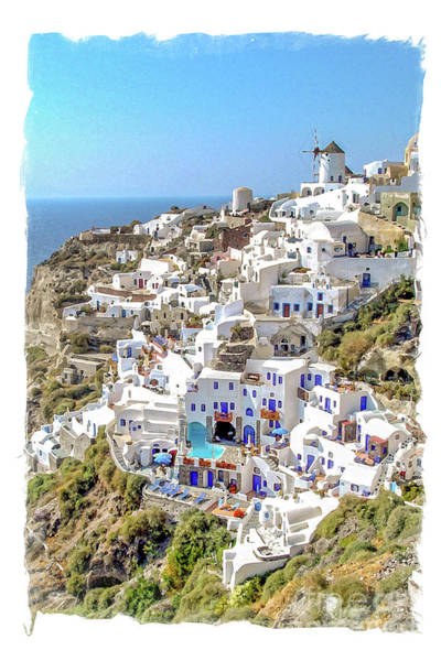 Oia Watercolor Art Print