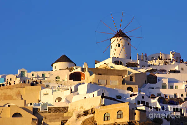 Photograph - Oia Windmill by Jeremy Hayden