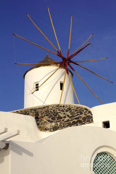 Photograph - Oia Windmill Up Close by Jeremy Hayden