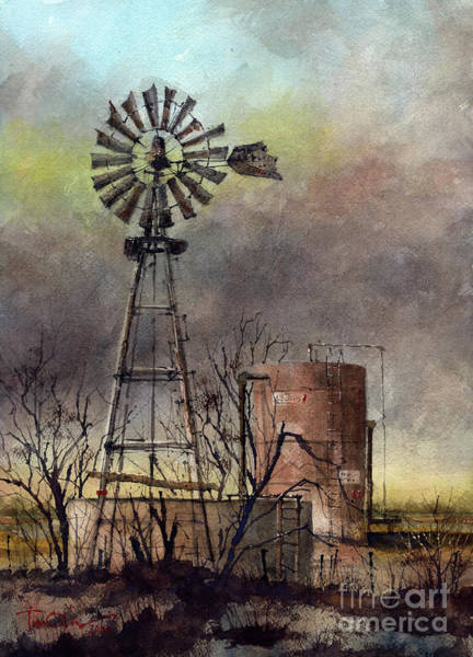 Windmill Painting - Oil And Water by Tim Oliver