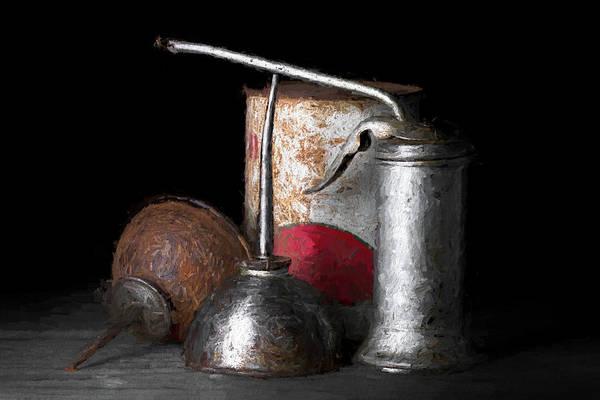 Can Photograph - Oil Can Still Life by Tom Mc Nemar