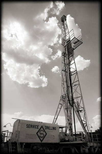 Wall Art - Photograph - Oil Derrick II by Ricky Barnard