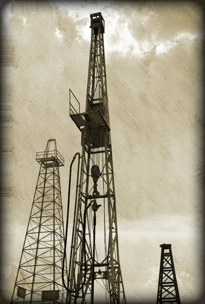 Petroleum Wall Art - Photograph - Oil Derrick Vi by Ricky Barnard