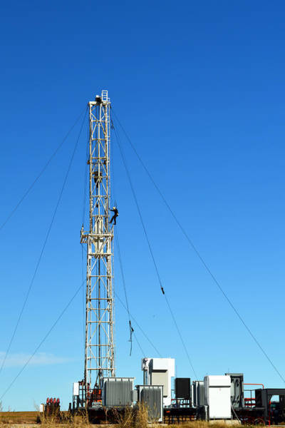 Wall Art - Photograph - Oil Field Man At Work - Photography by Ann Powell