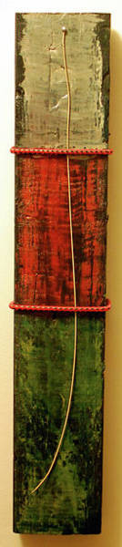 2x4 Wall Art - Mixed Media - Oil Guitar String by Tomungovan Assemblage Artist