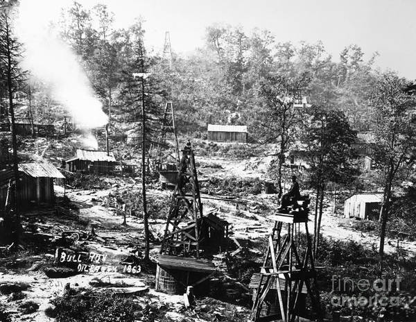 Photograph - Oil: Pennsylvania, 1863 by Granger