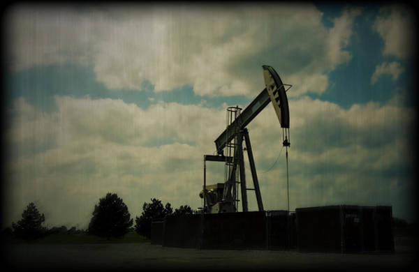 Petroleum Wall Art - Photograph - Oil Pumpjack Holga by Ricky Barnard