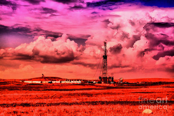 Wall Art - Photograph - Oil Rig And Clouds  by Jeff Swan