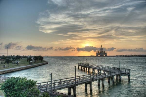 Photograph - Oil Rig In Gulf by Brian Kinney