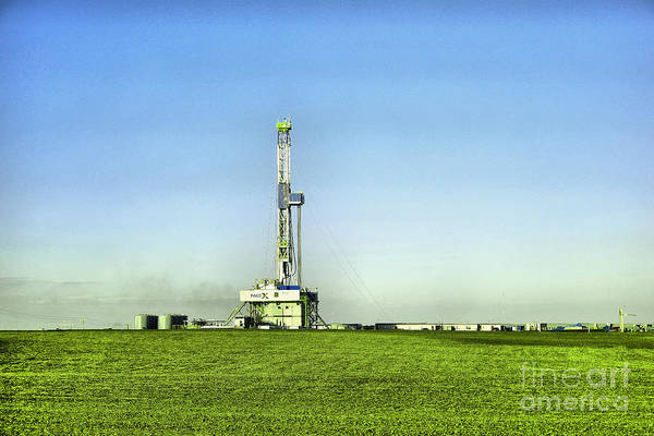Wall Art - Photograph - Oil Rig In North Dakota by Jeff Swan