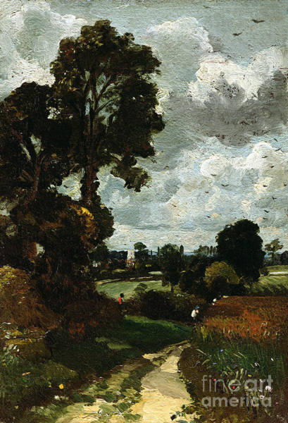1837 Painting - Oil Sketch Of Stoke-by-nayland by John Constable